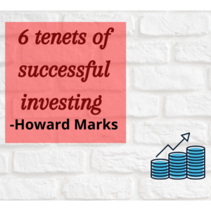 6 Tenets of successful investing