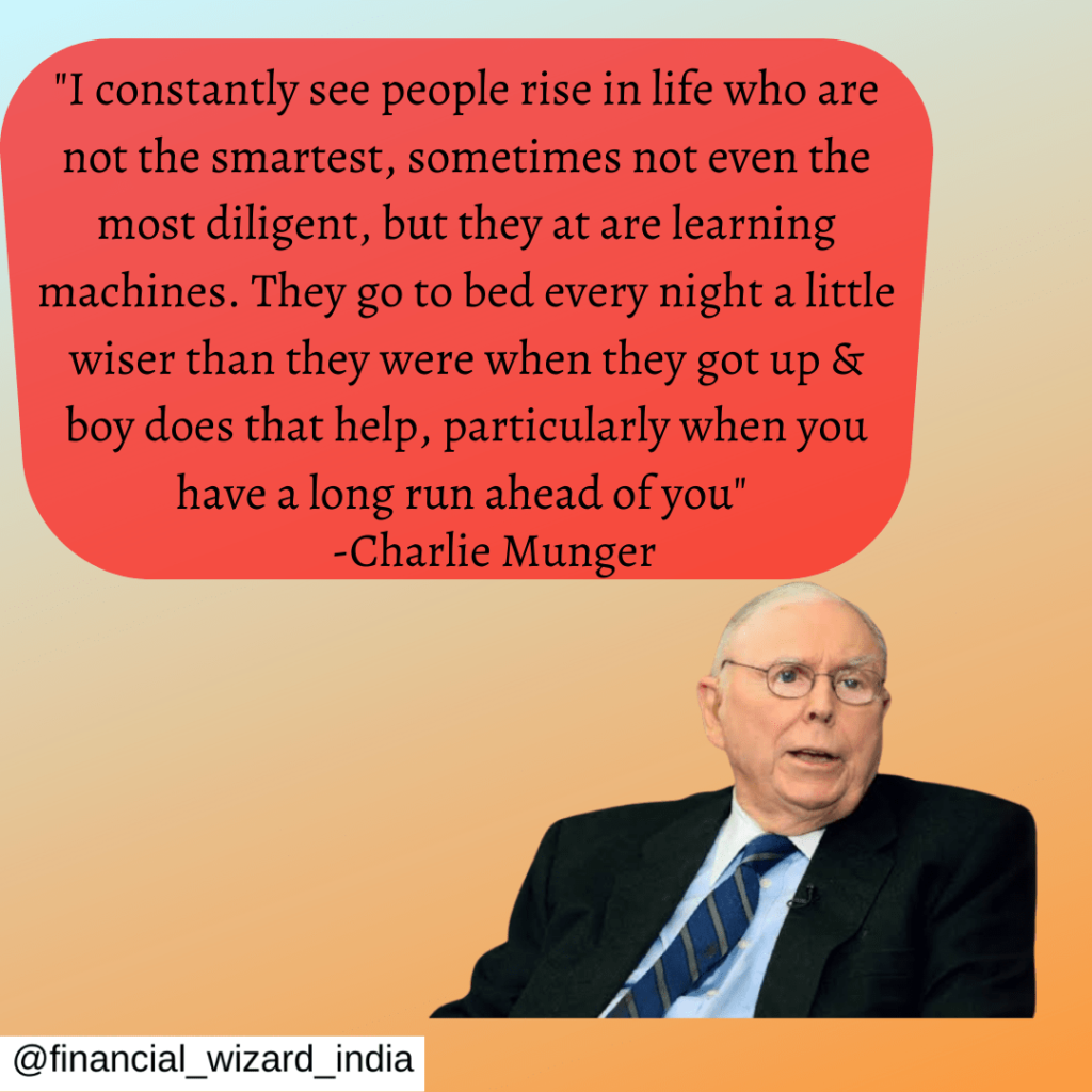 Mr. Munger quote on learning.