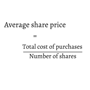 how to calculate average stock price